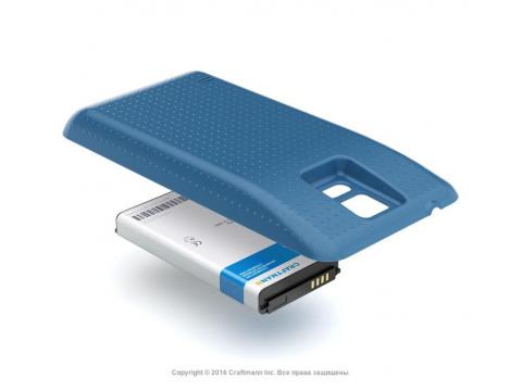 Аккумулятор повышенной емкости для Samsung Galaxy S5 (SM-G900F) в комплекте с крышкой синего цвета
