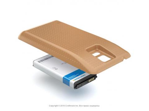 Аккумулятор повышенной емкости для Samsung Galaxy S5 LTE-A (SM-G901F) в комплекте с крышкой золотистого цвета