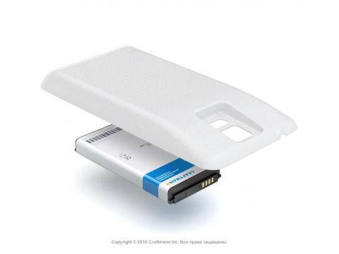 Аккумулятор повышенной емкости для Samsung Galaxy S5 LTE-A (SM-G901F) в комплекте с крышкой белого цвета