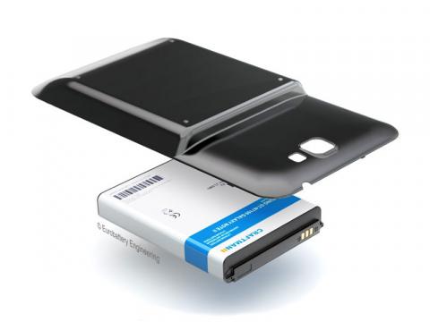 Аккумулятор повышенной емкости для Samsung Galaxy Note 2 (GT-N7100) в комплекте с крышкой черного цвета