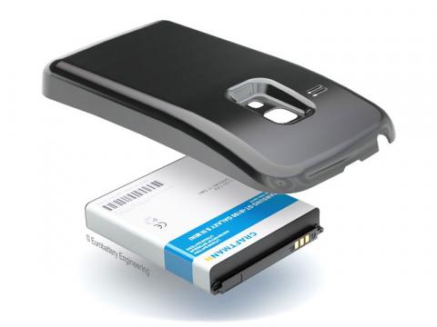 Аккумулятор повышенной емкости для Samsung Galaxy S3 mini (GT-i8190) в комплекте с крышкой черного цвета