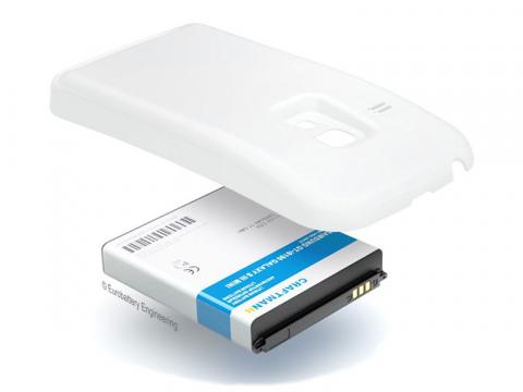 Аккумулятор повышенной емкости для Samsung Galaxy S3 mini (GT-i8190) в комплекте с крышкой белого цвета