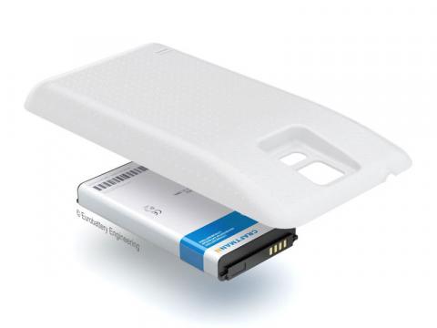 Аккумулятор повышенной емкости для Samsung Galaxy S5 DuoS (SM-G900FD) в комплекте с крышкой белого цвета
