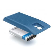 Аккумулятор повышенной емкости для Samsung Galaxy S5 DuoS (SM-G900FD) в комплекте с крышкой синего цвета