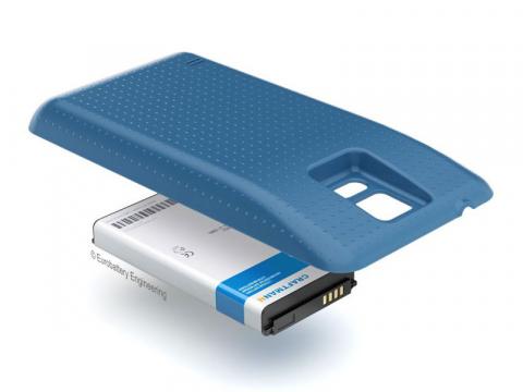 Аккумулятор повышенной емкости для Samsung Galaxy S5 (SM-G900H) в комплекте с крышкой синего цвета