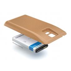 Аккумулятор повышенной емкости для Samsung Galaxy S5 DuoS (SM-G900FD) в комплекте с крышкой золотистого цвета