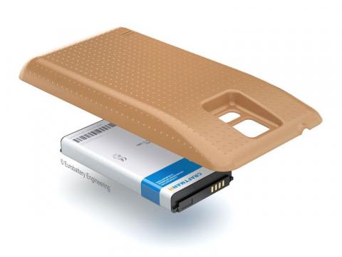 Аккумулятор повышенной емкости для Samsung Galaxy S5 (SM-G900F) в комплекте с крышкой золотистого цвета
