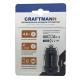 Автомобильное зарядное устройство Craftmann 4.8A (2 USB порта, черное)