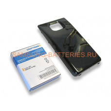 Аккумулятор повышенной емкости для Samsung Galaxy S2 (GT-i9100) в комплекте с крышкой черного цвета