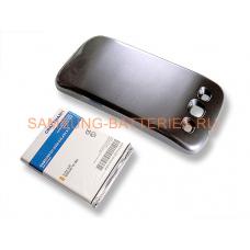 Аккумулятор повышенной емкости для Samsung Galaxy S3 (GT-i9300) в комплекте с крышкой синего цвета