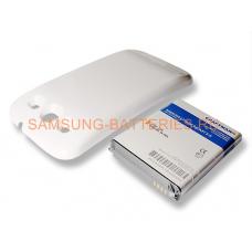 Аккумулятор повышенной емкости для Samsung Galaxy S3 (GT-i9300) в комплекте с крышкой белого цвета