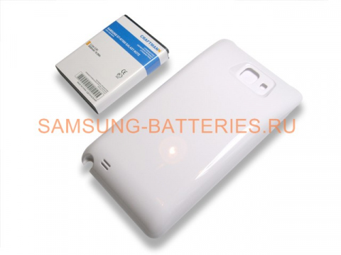 Аккумулятор повышенной емкости для Samsung Galaxy Note (GT-N7000) в комплекте с крышкой белого цвета